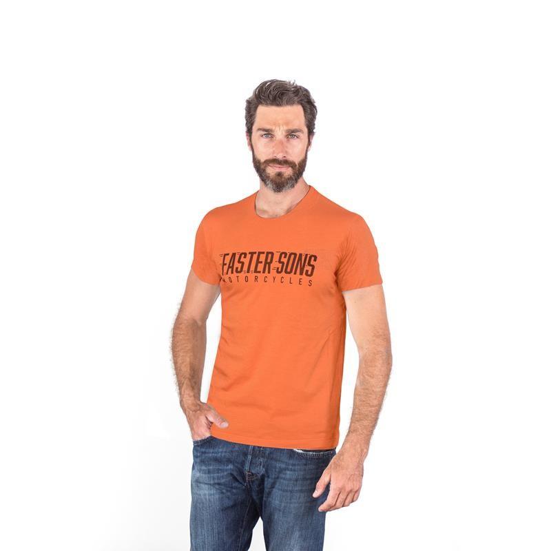 Camiseta Manga Corta Naranja Faster Sons