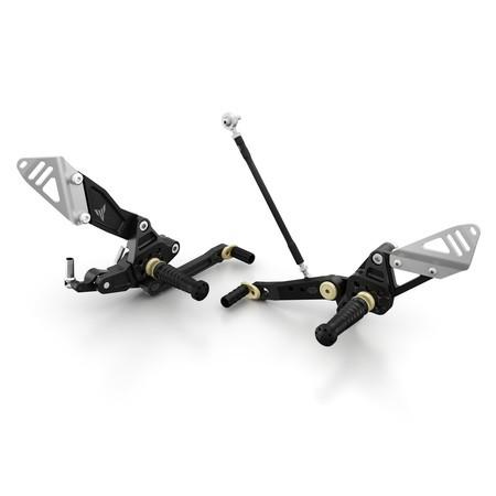 Kit de ajuste de pedales MT-07 - Black