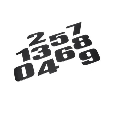 Kit de números adhesivos - Black