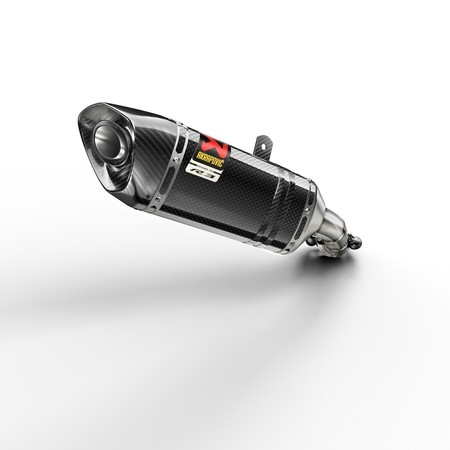 Escape Slip-on con protector de carbono - Carbon gloss finish