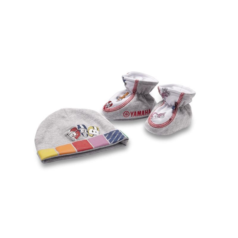 Conjunto de gorro y botitas de regalo para bebé (niña)